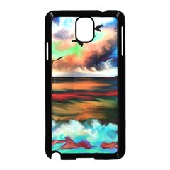 Ocean Waves Birds Colorful Sea Samsung Galaxy Note 3 Neo Hardshell Case (black)
