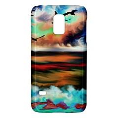 Ocean Waves Birds Colorful Sea Galaxy S5 Mini