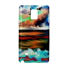 Ocean Waves Birds Colorful Sea Samsung Galaxy Note 4 Hardshell Case
