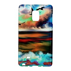Ocean Waves Birds Colorful Sea Galaxy Note Edge