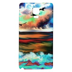 Ocean Waves Birds Colorful Sea Galaxy Note 4 Back Case
