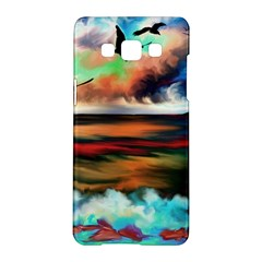 Ocean Waves Birds Colorful Sea Samsung Galaxy A5 Hardshell Case