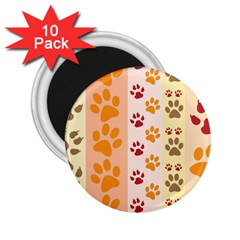 Paw Print Paw Prints Fun Background 2.25  Magnets (10 pack)