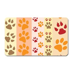 Paw Print Paw Prints Fun Background Magnet (rectangular)