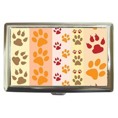 Paw Print Paw Prints Fun Background Cigarette Money Cases