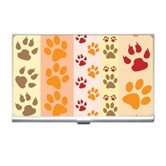 Paw Print Paw Prints Fun Background Business Card Holders