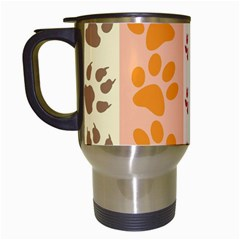 Paw Print Paw Prints Fun Background Travel Mugs (white)