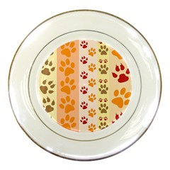 Paw Print Paw Prints Fun Background Porcelain Plates