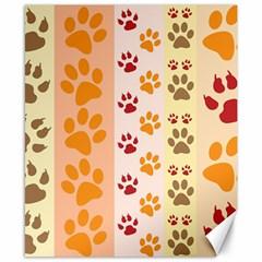 Paw Print Paw Prints Fun Background Canvas 8  X 10