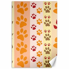 Paw Print Paw Prints Fun Background Canvas 12  X 18