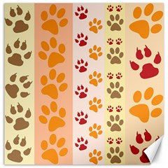 Paw Print Paw Prints Fun Background Canvas 20  X 20