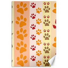 Paw Print Paw Prints Fun Background Canvas 20  X 30