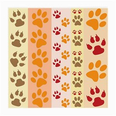 Paw Print Paw Prints Fun Background Medium Glasses Cloth (2 Side)