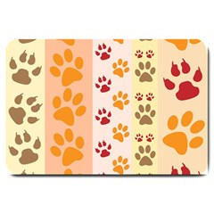 Paw Print Paw Prints Fun Background Large Doormat