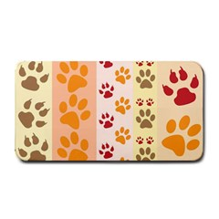 Paw Print Paw Prints Fun Background Medium Bar Mats