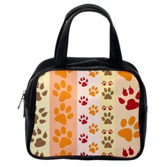 Paw Print Paw Prints Fun Background Classic Handbags (one Side)