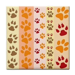 Paw Print Paw Prints Fun Background Face Towel