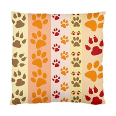 Paw Print Paw Prints Fun Background Standard Cushion Case (one Side)