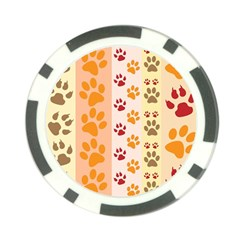 Paw Print Paw Prints Fun Background Poker Chip Card Guard (10 Pack)