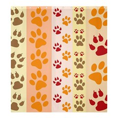Paw Print Paw Prints Fun Background Shower Curtain 66  X 72  (large)