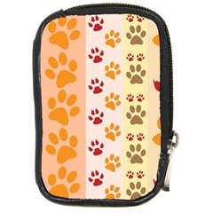 Paw Print Paw Prints Fun Background Compact Camera Cases