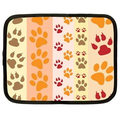 Paw Print Paw Prints Fun Background Netbook Case (xl)