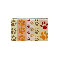 Paw Print Paw Prints Fun Background Cosmetic Bag (small)