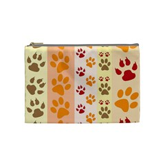Paw Print Paw Prints Fun Background Cosmetic Bag (medium)