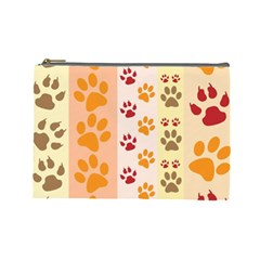Paw Print Paw Prints Fun Background Cosmetic Bag (Large)