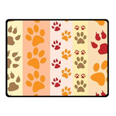 Paw Print Paw Prints Fun Background Fleece Blanket (small)