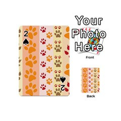 Paw Print Paw Prints Fun Background Playing Cards 54 (mini)
