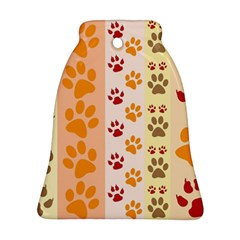 Paw Print Paw Prints Fun Background Bell Ornament (two Sides)