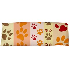 Paw Print Paw Prints Fun Background Body Pillow Case (dakimakura)