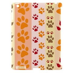 Paw Print Paw Prints Fun Background Apple Ipad 3/4 Hardshell Case (compatible With Smart Cover)