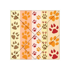 Paw Print Paw Prints Fun Background Acrylic Tangram Puzzle (4  X 4 )