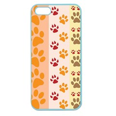 Paw Print Paw Prints Fun Background Apple Seamless Iphone 5 Case (color)