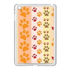 Paw Print Paw Prints Fun Background Apple Ipad Mini Case (white)