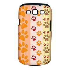 Paw Print Paw Prints Fun Background Samsung Galaxy S Iii Classic Hardshell Case (pc+silicone)