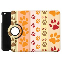 Paw Print Paw Prints Fun Background Apple Ipad Mini Flip 360 Case