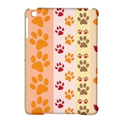 Paw Print Paw Prints Fun Background Apple Ipad Mini Hardshell Case (compatible With Smart Cover)