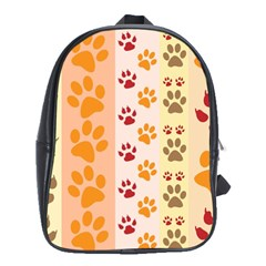 Paw Print Paw Prints Fun Background School Bags (xl)