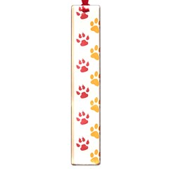 Paw Print Paw Prints Fun Background Large Book Marks