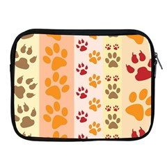 Paw Print Paw Prints Fun Background Apple Ipad 2/3/4 Zipper Cases