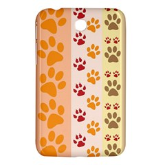 Paw Print Paw Prints Fun Background Samsung Galaxy Tab 3 (7 ) P3200 Hardshell Case
