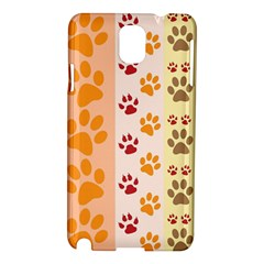 Paw Print Paw Prints Fun Background Samsung Galaxy Note 3 N9005 Hardshell Case