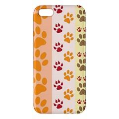 Paw Print Paw Prints Fun Background Iphone 5s/ Se Premium Hardshell Case