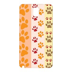 Paw Print Paw Prints Fun Background Samsung Galaxy Note 3 N9005 Hardshell Back Case