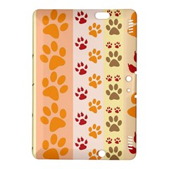 Paw Print Paw Prints Fun Background Kindle Fire Hdx 8 9  Hardshell Case