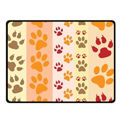 Paw Print Paw Prints Fun Background Double Sided Fleece Blanket (small)
