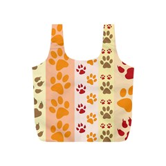 Paw Print Paw Prints Fun Background Full Print Recycle Bags (s)